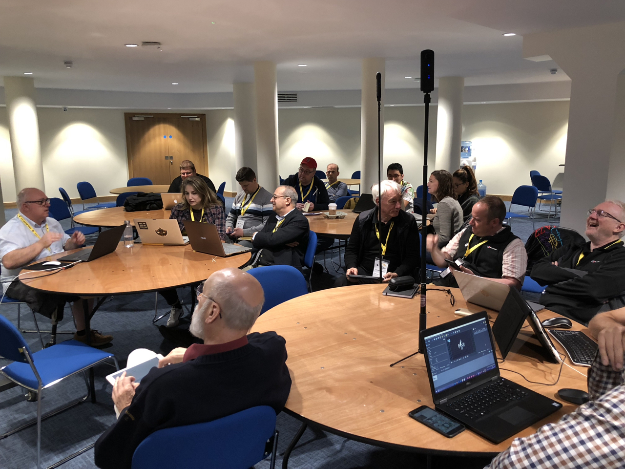 Martin aka Hopki leads a Pano2VR workshop at the IVRPA conference in Belfast.
