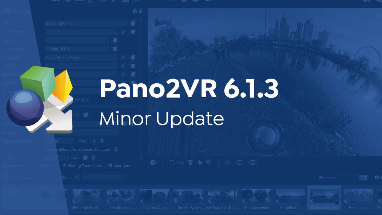 Pano2VR 6.13 - Minor Update